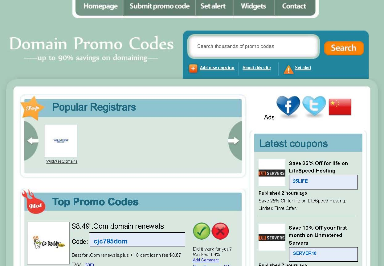 Save With Your Domain Promo Codes Today